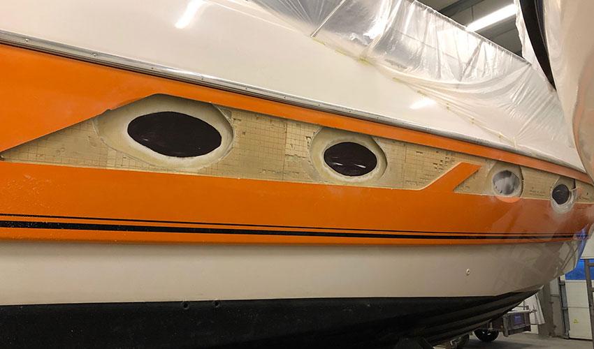 Yachtservice en Refit Flevo Marina refit Veuve Clicquot